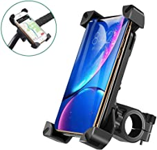 Bike Phone Holder Mount Universal Handlebar Bicycle Motorcycle Phone Mount for Motorbike, Mountain Bike,Anti-Shake, 360°Rotatable,Suit for iPhone, Samsung and Other 4