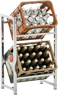 CLP Estantería para Cajas De Bebidas Lennert I Soporte para Organizar Cajas I Estante De Almacenamiento para Cajas I Color: Cromado, S: 75 x 47 x 31 cm