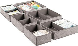 mDesign - Organizador de Tela Suave para cajón y clóset para habitación de niños/niños, guardería, Sala de Juegos, recámar...
