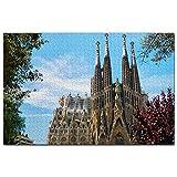 Puzle de madera de 1000 piezas, para adultos, diseño de Basilica de la Sagrada Familia Barcelona