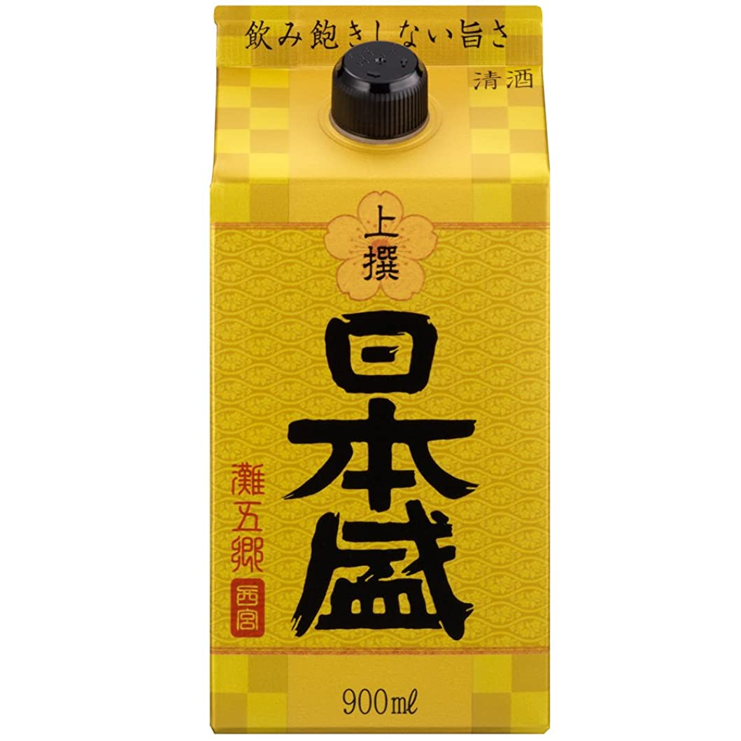 添加鋼パイプ日本盛 上撰 サケパック [ 日本酒 兵庫県 900ml ]