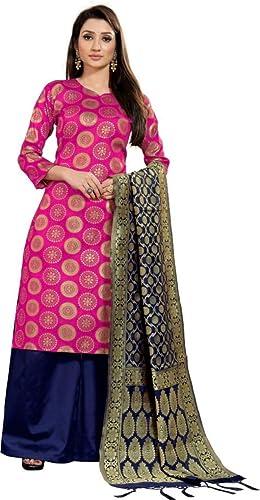 Prasha Fashion Brocade Self Design Salwar Suit Material Unstitched