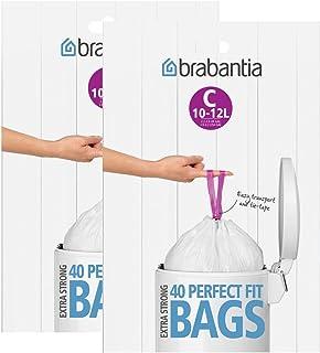 Brabantia dispensador de Bolsas de Basura del Paquete 12L (C) 40Unidades, 2 Pack