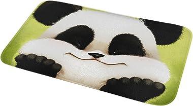 Bath Rugs Non Slip Kitchen Place Mats Flannel Doormat Panda Washable Bedroom Doormat Floor Mat 80×50CM