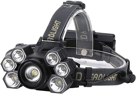 Adventure Essenzielle Head Fackel atmungsaktive leichte Scheinwerfer LED Wandern Outdoor-Camping-Scheinwerfer USB Ladeleifer schwarz und weiß Licht B07P72CV35 | Ausgezeichneter Wert