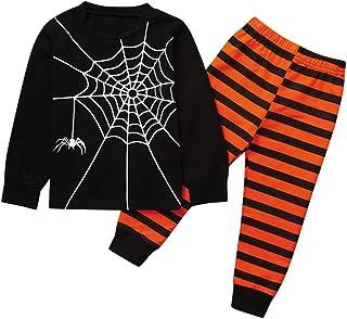 1-6 Años,SO-buts Niño Niños Bebé Niña Otoño Invierno Emparejamiento Familiar Conjunto De Trajes Pantalones Pijama De Telaraña Halloween Ropa De Dormir