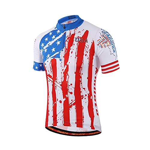 Uriah Men s Cycling Jersey Short Sleeve Reflective USA Style Size ... 7029f2ea8