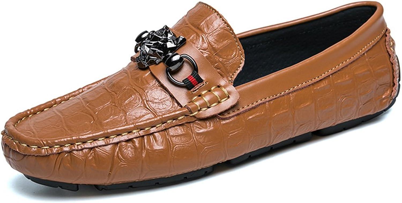 Men's shoes FEIFEI Leisure Personality Breathable Comfortable Non-slip Lazy shoes (color   Brown, Size   EU43 UK9 CN44)