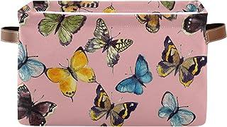 Tropicallife F17 Panier de rangement coloré en forme de papillon avec poignée 1 lot de bacs de rangement pliables en toile...