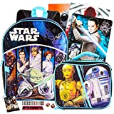 Star Wars School Supplies 13-Piece Bundle for Kids ~ Deluxe 16' Classic Star Wars Backpack, Insulated Lunch Bag, Folders, Notebook, Pencils, and More (Star Wars Back to School Set)