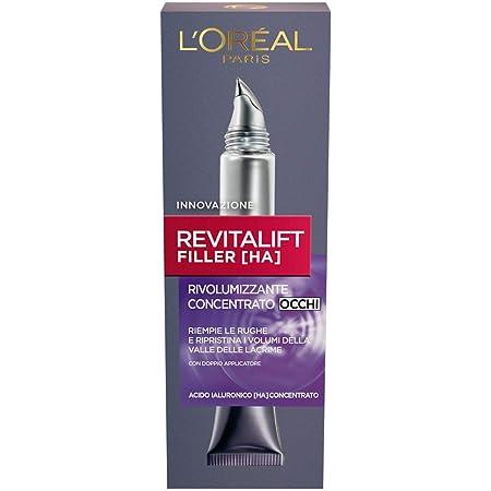 L'Oréal Paris Revitalift Filler Contorno Occhi, Azione Antirughe Rivolumizzante con Acido Ialuronico Concentrato, 15ml