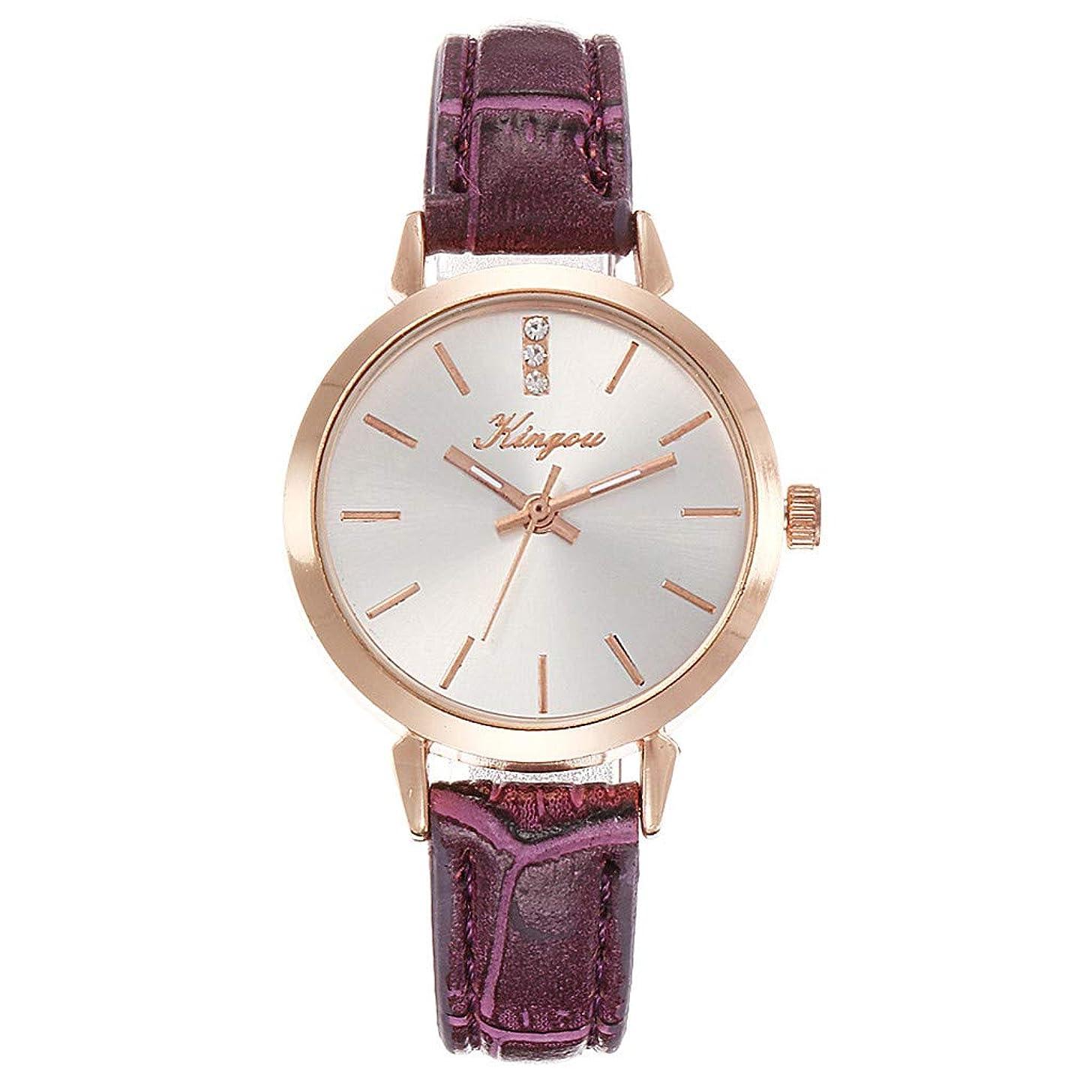 LUCAMORE Women's Quartz Wrist Watch Classic Business Casual Fashion Analog Wrist Watch PU Leather Watch
