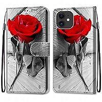 Laybomo Apple iPhone 12 mini ケース カバー 手帳型, [カードスロット]および[キックスタンド]付きの磁気閉鎖完全保護設計ウォレットフリップ 財布型カバー対応 Apple iPhone 12 mini電話ケース, 塗る 4