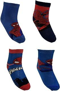 CARTOON GROUP, Calcetines Spiderman Marvel de algodón mercerizado 4 pares tallas 23/34 - SP_SG115
