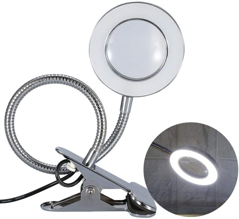 FILFEEL LED Table Lamp with Funtion Clip Porta 2.5X Magnifying Minneapolis Max 75% OFF Mall