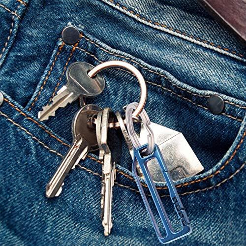 Ligero, portátil, anticorrosión, sin contacto, llavero de mano, anillo de seguridad para llaves, duradero para la familia, camping, caza(#4)