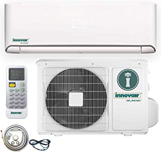 Innovair Air Conditioner Inverter Ductless Wall Mount Mini Split System Heat Pump Full Set with Kit (12000 BTU 208~230V Heat Pump)