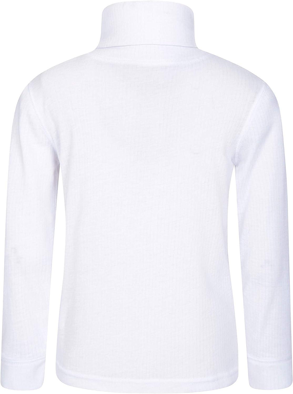 Maglietta con Collo a Polo Quick Wicking Mountain Warehouse Talus Maglia Girocollo per Bambini Invernale Collo tartarugato Maglia Leggera -Abbigliamento per Bambini