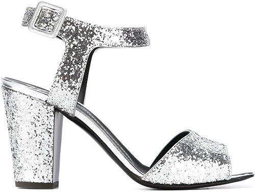 Giuseppe Zanotti Design Damen E60282005 Silber Leder Sandalen