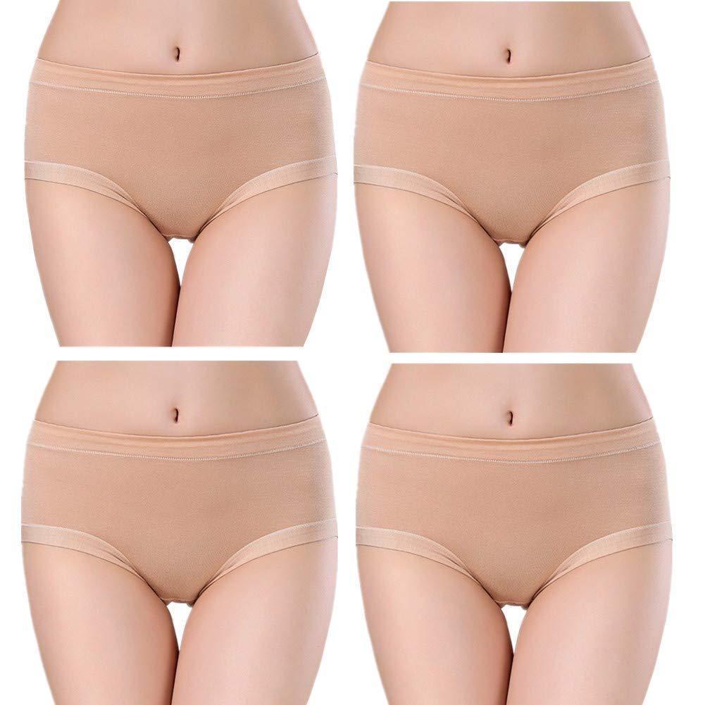 HAODEE Bragas Algodon Altas Bragas Menstruales Sexy Acogedor Ropa Interior Bragas sin Costuras para Mujer Bragas para Mujeres Stretch Cobertura Pantalones Apricot,m: Amazon.es: Hogar
