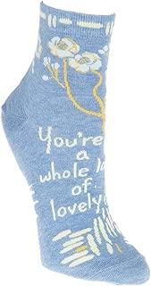 Blue Q Women's Novelty Ankle Socks - Fight Like A Girl Women's Size 5-10