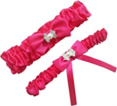 Miranda's Bridal Women's Satin Bridal Garters Wedding Garters with Bow