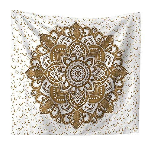 SODIAL Tapiz Colgante de Pared de Mandala Boho Yoga Tapiz de Mandala Indio de PoliéSter Mate para DecoracióN del Hogar 200X150CM
