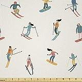 Lunarable Ski-Stoff von The Yard, Snowboard Wintersport