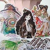 YUHANG Cuenta de Mano y Papel mágico Lolita Oscuro gótico translúcido Pegatina Diario álbum de Fotos Paquete de Material 17 Piezas