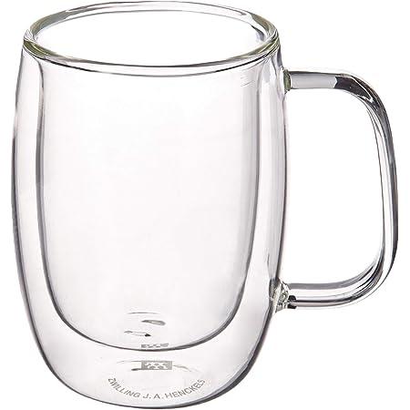 ZWILLING J.A. Henckels - Juego de tazas de café doble, transparente