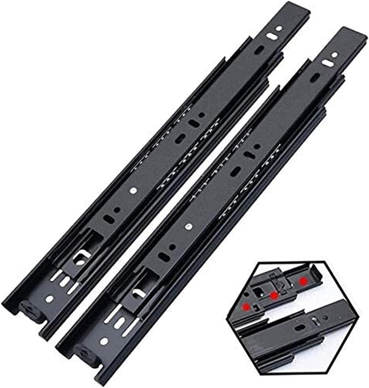 Jsmhh Popular standard Black Drawer Slide Rail 3 Fold OFFicial site Extended Ball Bearin Fully