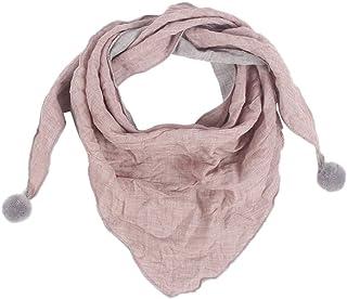 MoreChioce Triangolo Per Bambini Sciarpa in Cotone Inverno Caldo Scarves Multiuso Modo Sciarpa per Ragazzi Ragazze,Rosa scuro