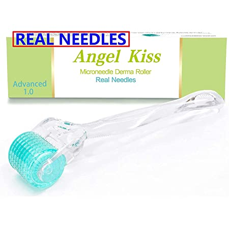 REAL Needles - 192 Derma Roller Micro Needles Advanced Version1.0- Angel Kiss Stainless Steel Individual Micro Needle Roller Microneedling Cosmetic Instrument For Face - Includes Storage Case
