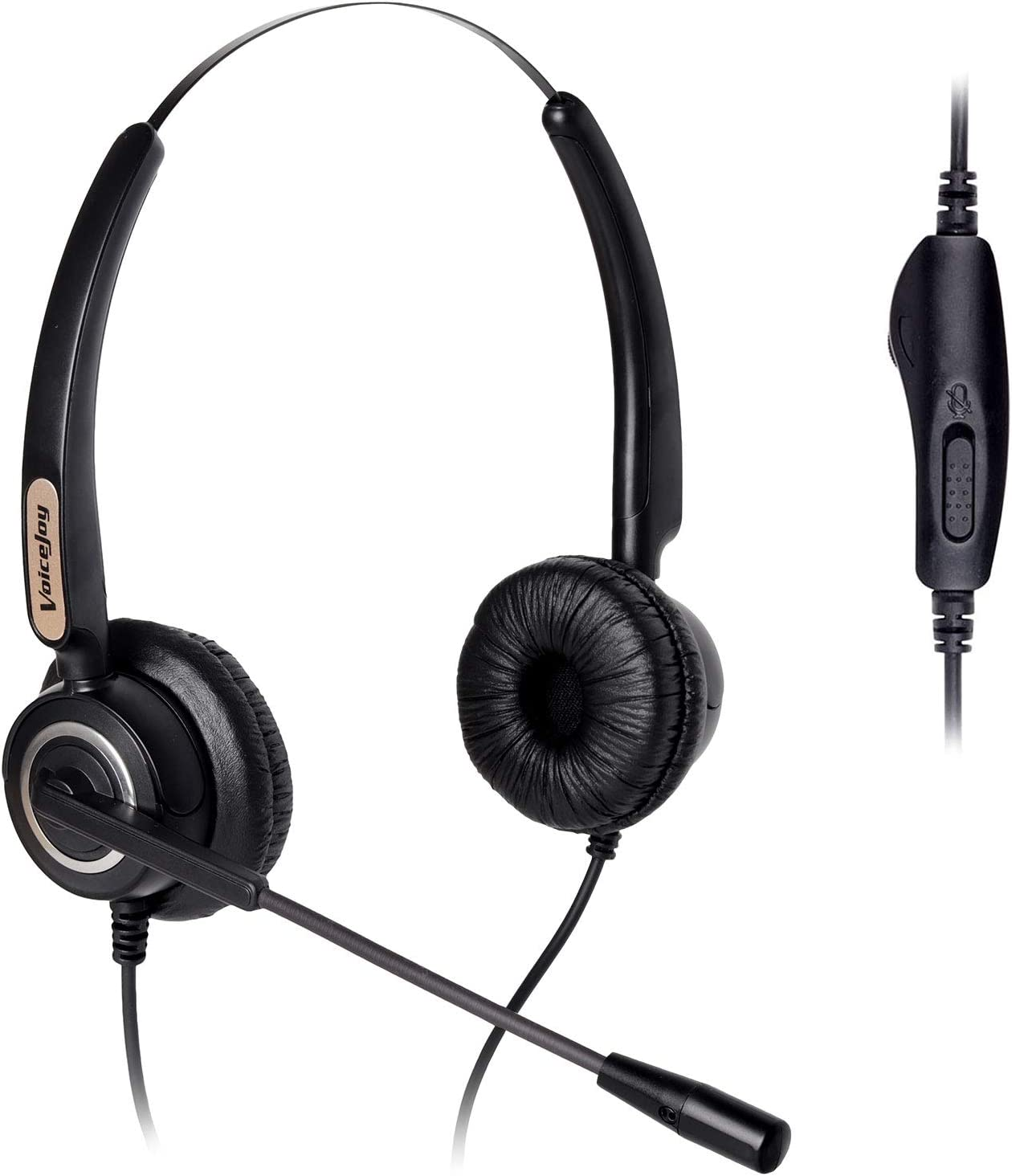 Volume and Mute Switch Headphone Office Binaural Headset with Microphone RJ9 Plug Only for Cisco IP Phones 794X 796X 797X 69XX Series and 8811,8841,8851,8861,8941,8945,8961,9951,9971 etc
