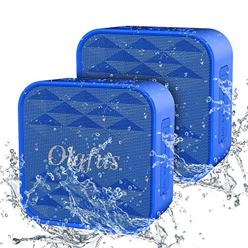 Olafus Cassa Bluetooth Portatile Speaker Bagno Waterproof IPX7 12 Ore di Riproduzione Mini Speaker 7W Bluetooth 5.0 Microfono Integrato Un Cavo di AUX Perfetto per Campeggio Festa Piscina Escursione