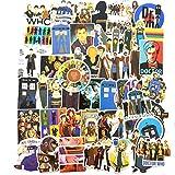 Doctor Who Theme Stickers for Water Bottle Laptop Vinyl Stickers Computer Car Helmet Skateboard Luggage Bike Bumper Graffiti Waterproof Decals 50Pcs