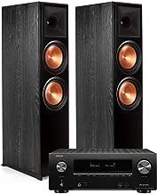 Klipsch RP-8000F Floorstanding Speakers - Pair (Ebony) with AVR-X2500H 7.2-Channel 4K Ultra HD AV Receiver