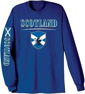 WHAT ON EARTH Unisex Adult International Long Sleeve T-Shirt- Scotland