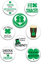 Simply Charmed St Patricks Day Irish Pins - 8 Large Funny Buttons for Your Party, Parade or Celebration - Fun Decorations, Great for Hats and Shirts