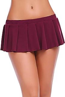 Avidlove Lingerie Women Role Play Costume Mini Plaid Skirt Schoolgirl Outifts
