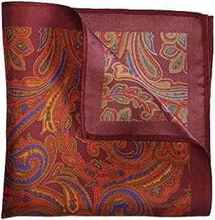 The Maroon Paisley Silk Pocket Square