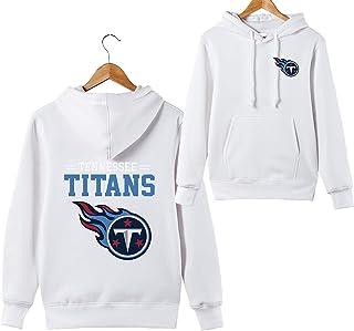 Hombres 3D Tennessee Titans NFL Patrón Uniforme Patrón Sudaderas Impresión Digital Amantes Sudaderas con Capucha