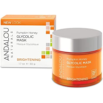 Andalou Naturals Brightening Mask, Pumpkin Honey Glycolic, 1.7 Ounce