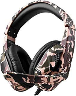 $23 » Chercherr Newest Gaming Headset with Mic for PS4, Xbox One, PC, Pro 40mm Driver, 3.5mm Surround Stereo Game Headphone with Noise Cancelling Microphone, Soft Memory Earmuffs, LED Lights (Yellow)