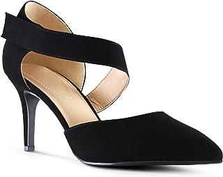 Jamaica Womens Pointy Toe Low Platform Memory Foam Cushion High Heels Dress Shoes