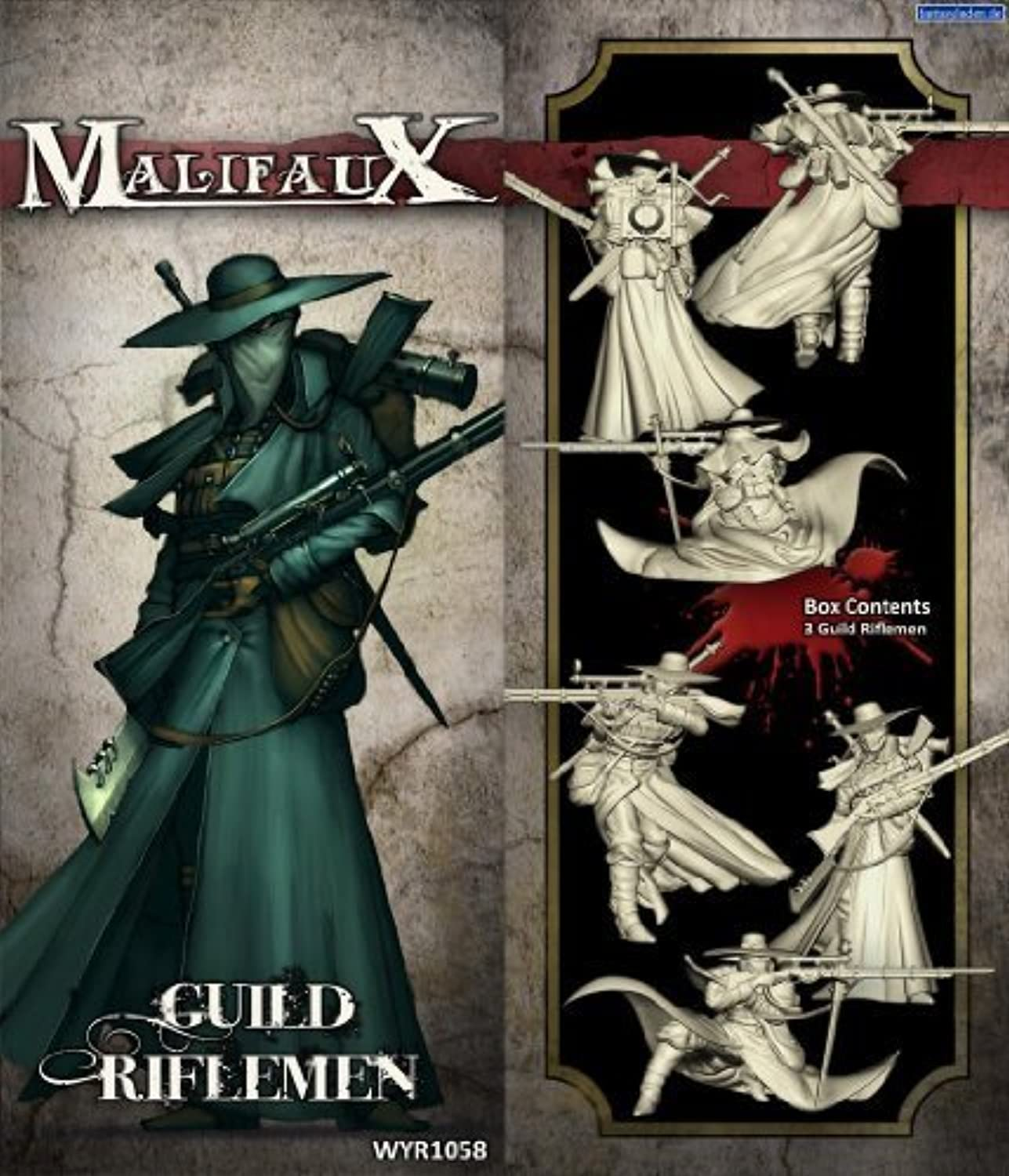 Wyrd Miniatures Malifaux Guild Riflemen Model Kit (3 Pack) by Wyrd Miniatures