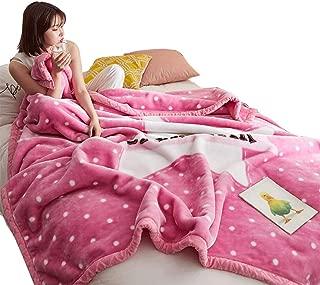 Throw Blanket Blanket Coral Velvet Double Blanket Thick Double Bed Blanket Pink Warm Soft Sofa Blanket (Color : Pink, Size : 180220cm)