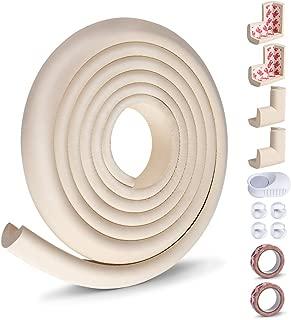 Opret Kit de Protector para Bebés y Niños, 8 Cantos Protectores y 1 Rollo para Mesa Esquinas Bordes, 1 Tope Puerta, Kit de Seguridad con Adhesivo de 3M (Blanco)