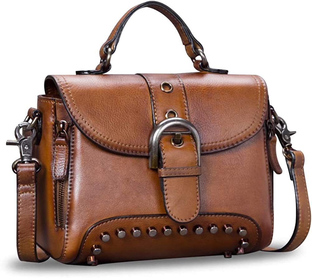 Genuine Leather Satchel for Women Crossbody Handmade Max 50% OFF Bag 5 ☆ very popular Vintage