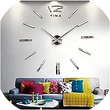 Tanng 2019 New Luminous Wall Clocks Large Clock Watch Horloge 3D DIY Acrylic Mirror Stickers QuartzModern Mute,Wall Clock 11,47 inch
